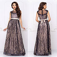 """Довге вечірнє плаття атласне розмір S """"Вінтаж"""", фото 1"""