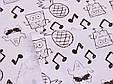 Сатин (бавовняна тканина) ноти і Губка Боб, фото 3