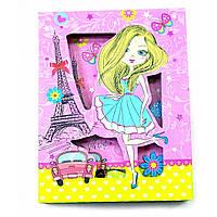 Блокнот с замком для девочек Париж