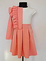 Нарядное детское платье с пиджаком для девочек от 5 до 10 лет
