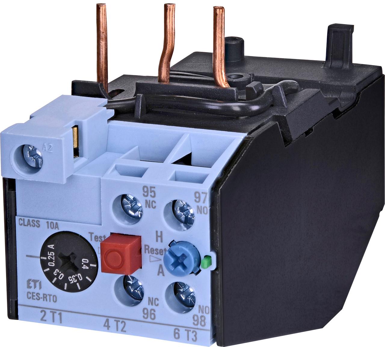 Тепловое реле ETI CES-RT0-0,4 (0,25-0,4A) CES6-CES18 4646587 (для контакторов CES6, CES9, CES12, CES18)