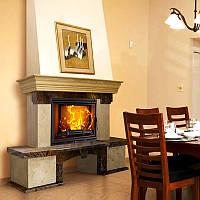 Портал для камина (облицовка) Корсика плитка из натурального мрамора Botticino, Bidasar Brown