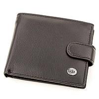 Мужской кожаный купюрник ST Leather 18308 (ST104) Черный, фото 1