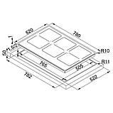 Индукционная варочная поверхность Frames by Franke FHFS 786 3FLEXI ST CH (108.0516.351) нержавеющая сталь / стекло шампань, фото 3