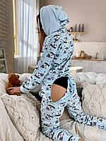 Піжама комбінезон кигуруми блакитна ведмідь, фото 1