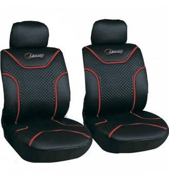 Чехлы сидений передние черные Milex Classic