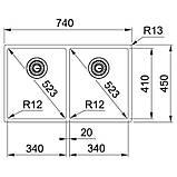Кухонная мойка Franke Box BXX 220/120-34-34 (127.0370.188) полированная, фото 2
