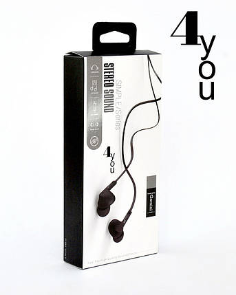 Гарнитура 4you GEMINI (плоский шнур, sport) black, фото 2
