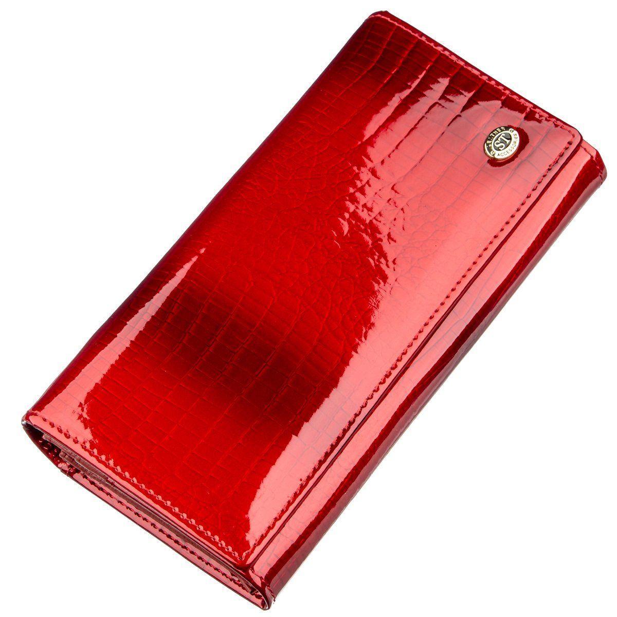 Лаковый женский кошелек ST Leather 18903 Красный