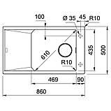 Кухонная мойка Franke FX FXG 611-86 (114.0517.144) миндаль, фото 2