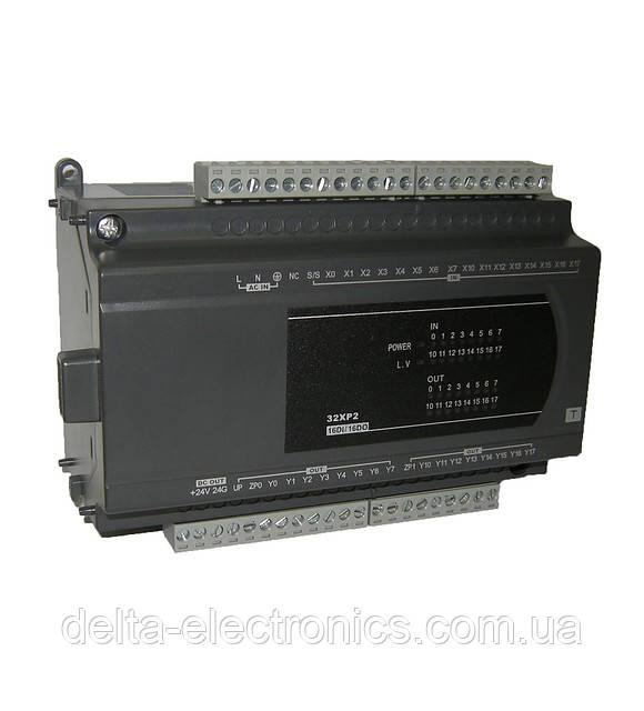Модуль розширення для контролерів серії ES2, EX: 16DI/16DO реле, живлення 100~240В, DVP32XP200R