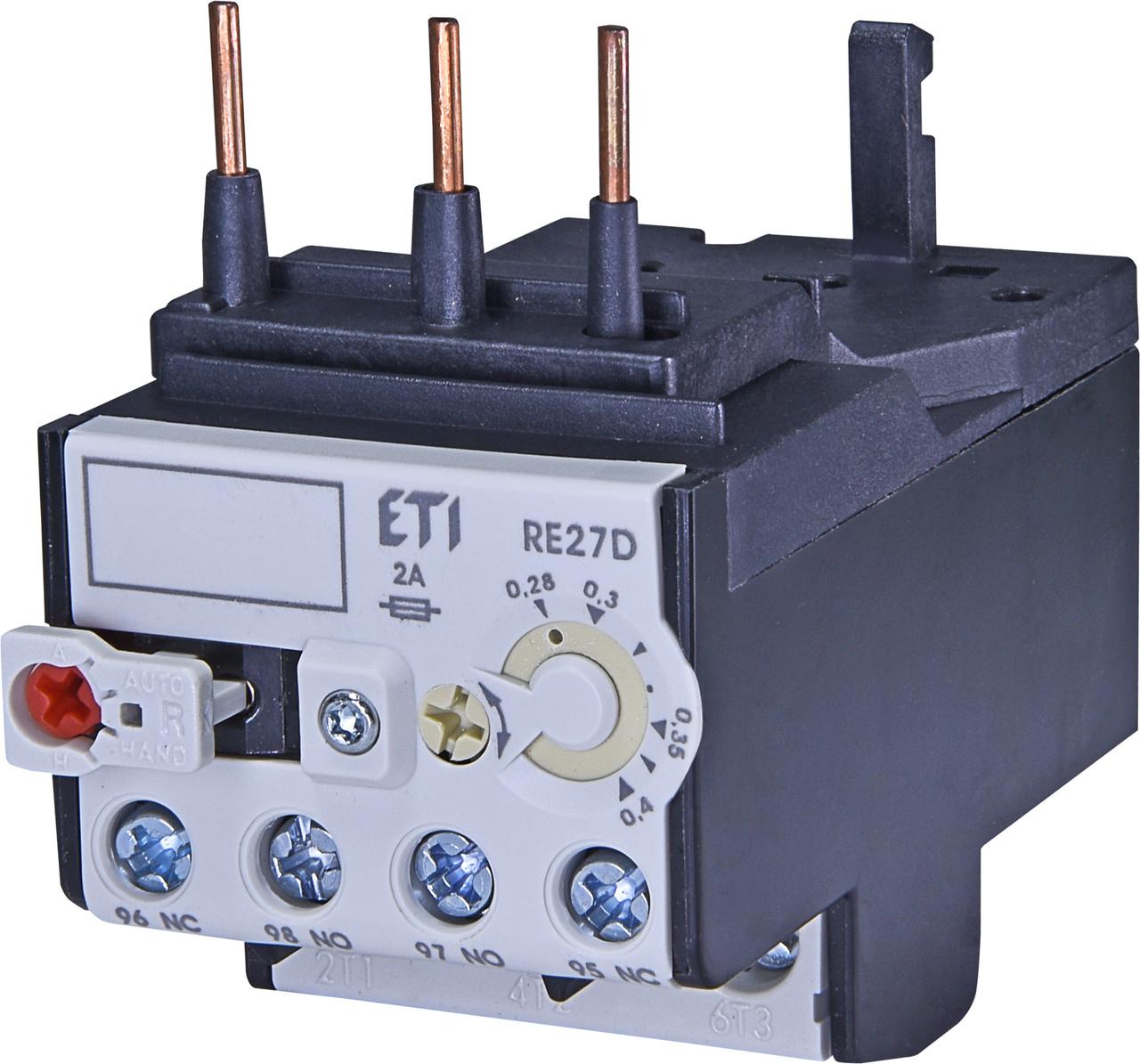 Тепловое реле ETI RE 27D-0,4 (0,28-0,4A) CEM9-CEM25 4642400 (для контакторов CEM9, CEM12, CEM18, CEM25)