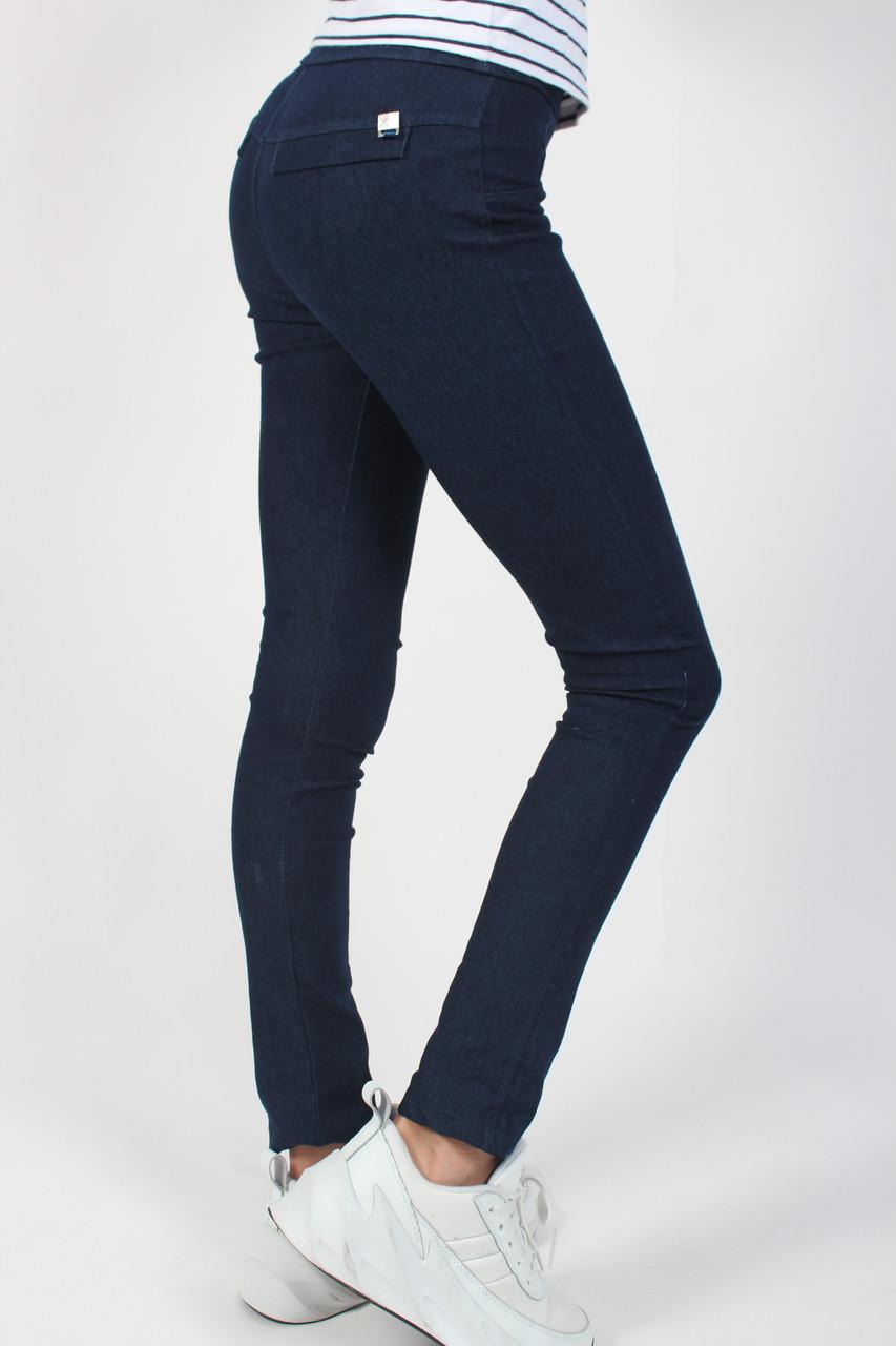 Лосины детские джинс для девочки (8-13 лет) джинс с хорошим стрейчем №7202 с обманчивыми карманами