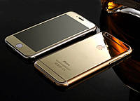 Защитное стекло (2in1) TG Premium Tempered Glass 0,26mm 2,5D для iPhone 6 Gold Mirror переднее + заднее