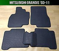 ЕВА коврики на Mitsubishi Grandis '03-11. Ковры EVA Митсубиси Грандис Мицубиси, фото 1