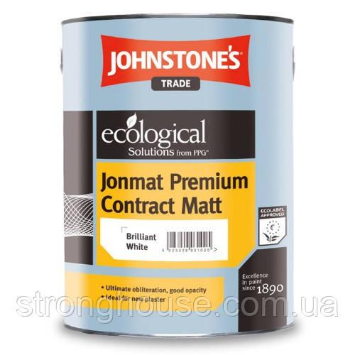 Johnstone's Jonmat Premium Contract Matt 5л Виниловая матовая краска Джонстоун Джонмат Премиум Контракт Мат