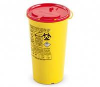 Контейнер для cбора иголок и  медицинских отходов вместимость 1,5 л.  (с PP, круглый), шт.