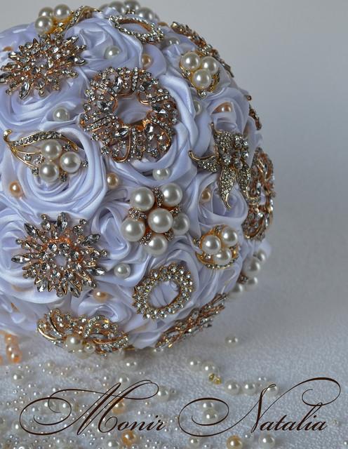 Брошь-букеты для невесты