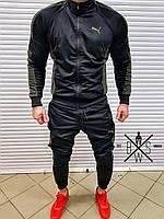 Спортивный костюм свитшот  Puma мужской черный