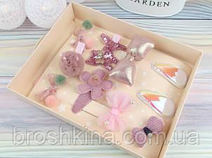 Подарочный набор украшений 10 заколок в коробке