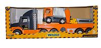 Игрушечный детский набор грузовик.Машина грузовик игра.Детский пластмассовый грузовик.