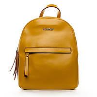 Яркий женский рюкзак из натуральной кожи (29*22*12см) ALEX RAI, 1-06 337 yellow