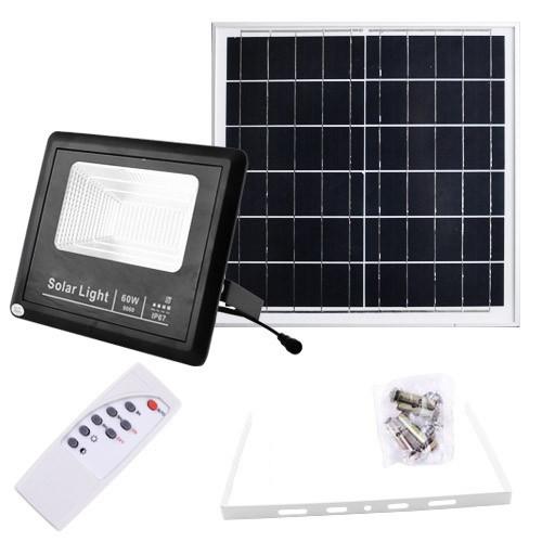 Прожектор 9060 60W SMD з сонячною панеллю і пультом