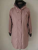 Удобная весенняя куртка лаконичного дизайна Quiet Poem, весна-осень 2020-2021 р.46 код 3076М