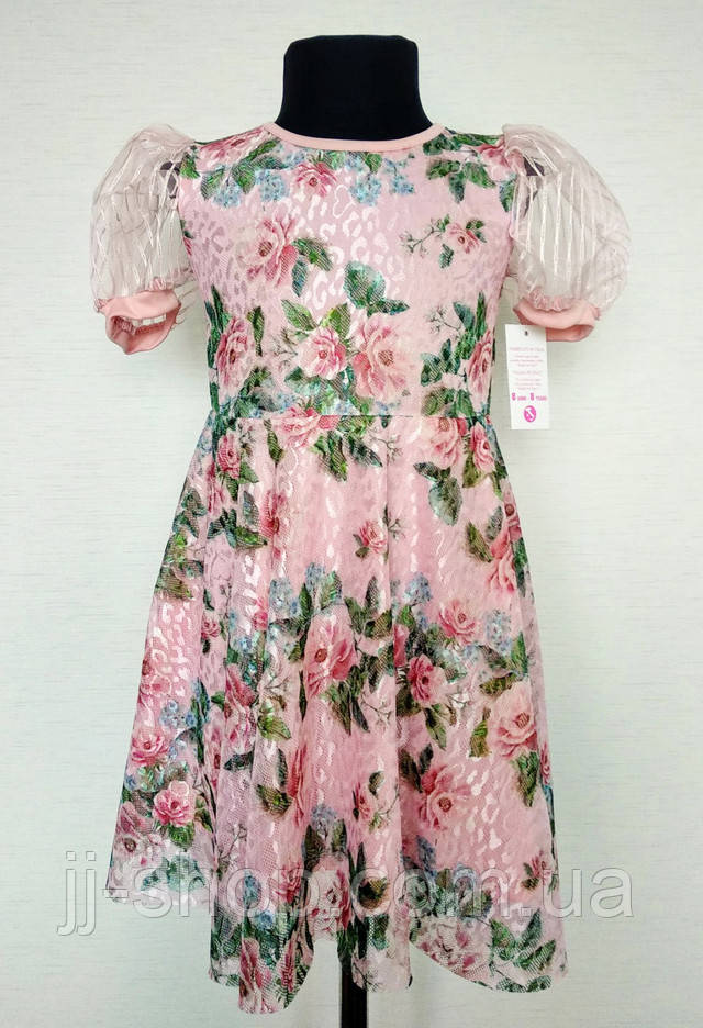 Детское платье с воланами на девочку