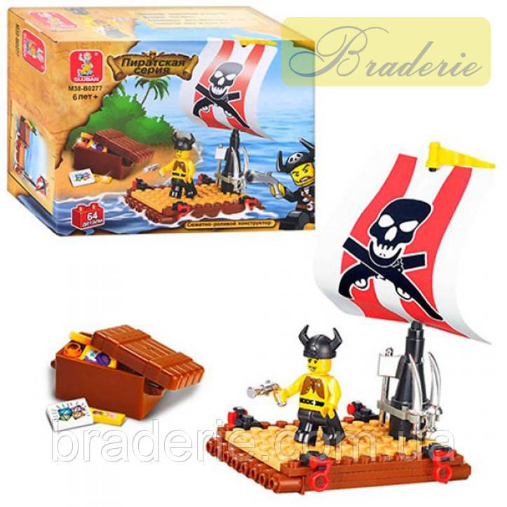 Конструктор SLUBAN Пират на плотике B 0277 R