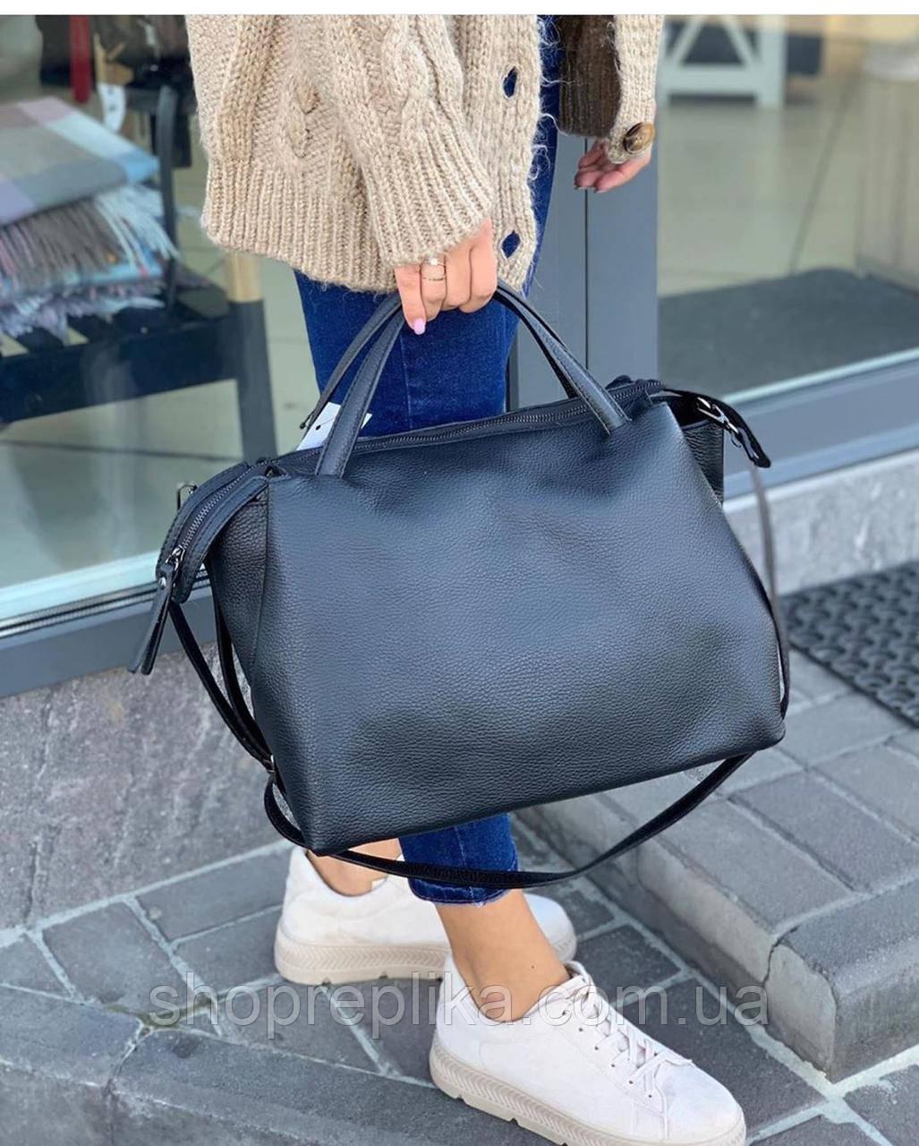 Сумка через плечо женская большая кожаная шоппер Италия lux  Italy сумка из натуральной кожи