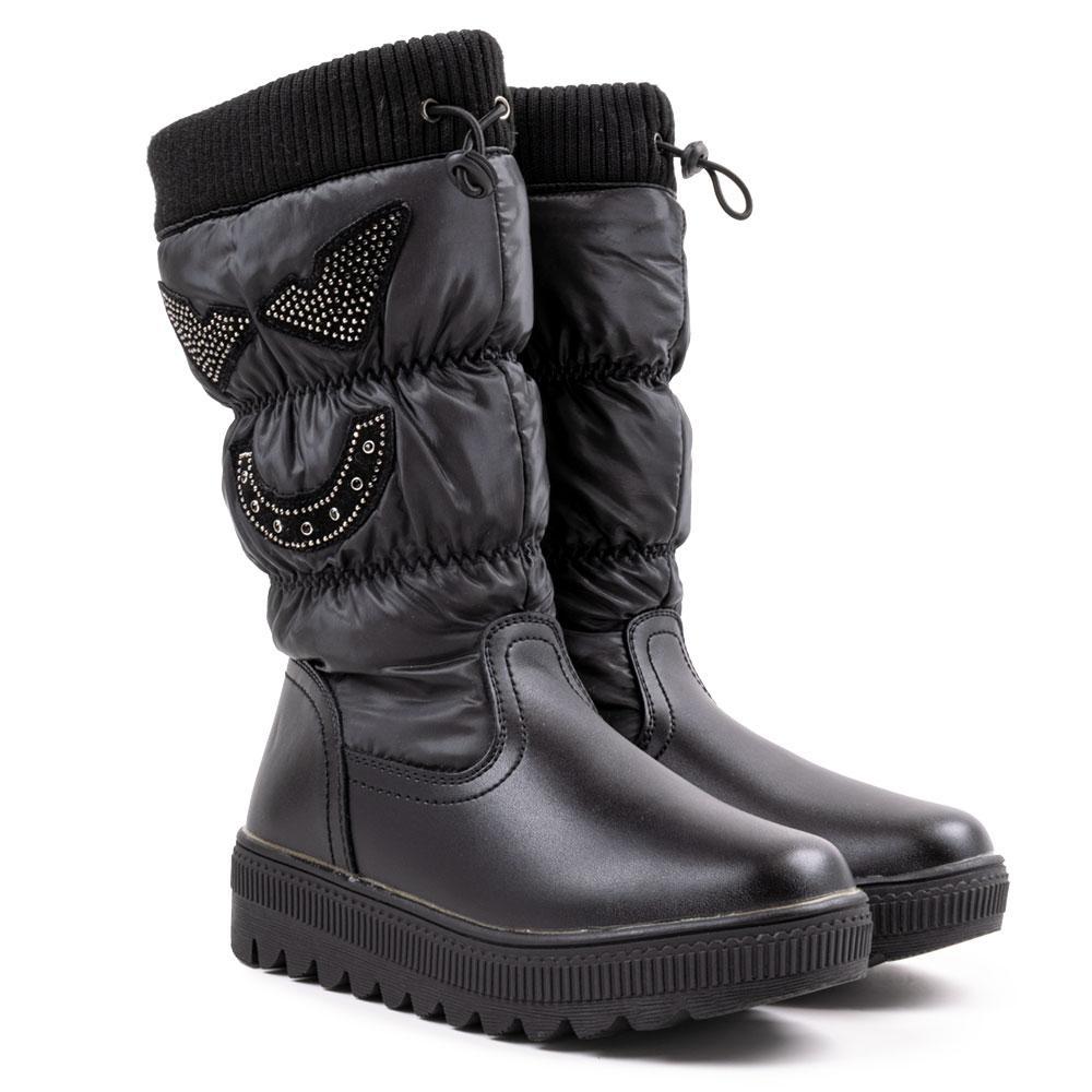 Сапоги зимние для девочек Jong Golf 33  чёрный C-9186-0