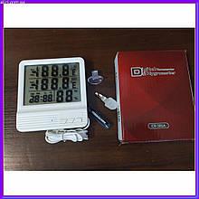 Метеостанция Термометр Гигрометр Цифровой Digital CX-301A c часами и выносным датчиком