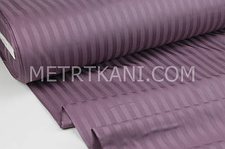 Страйп сатин  цвет баклажан полоска 1*1 см  ширина 240 см № VS-12948-6