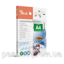 Пленка для ламинирования Peach A4 (216x303 мм) - 80 мкм (50/30) глянец 100шт
