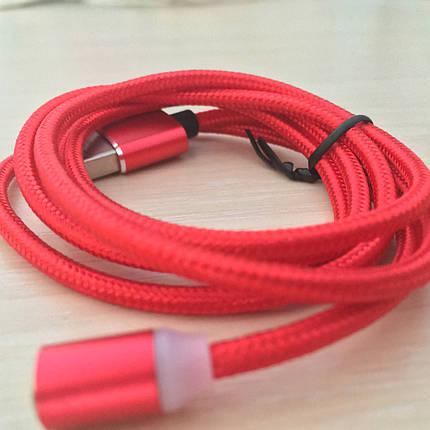 Магнитный кабель, зарядка, зарядный кабель, Floveme micro usb Красный, фото 2