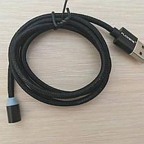Магнитный кабель, зарядка, зарядный кабель, Floveme micro usb Черный, фото 2