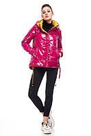 Демисезонная лаковая куртка с утеплителем Мика, разные цвета, фото 1