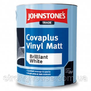 Johnstone's Covaрlus Vinyl Matt 5л Виниловая матовая краска Джонстоун Коваплюс Винил Мат.