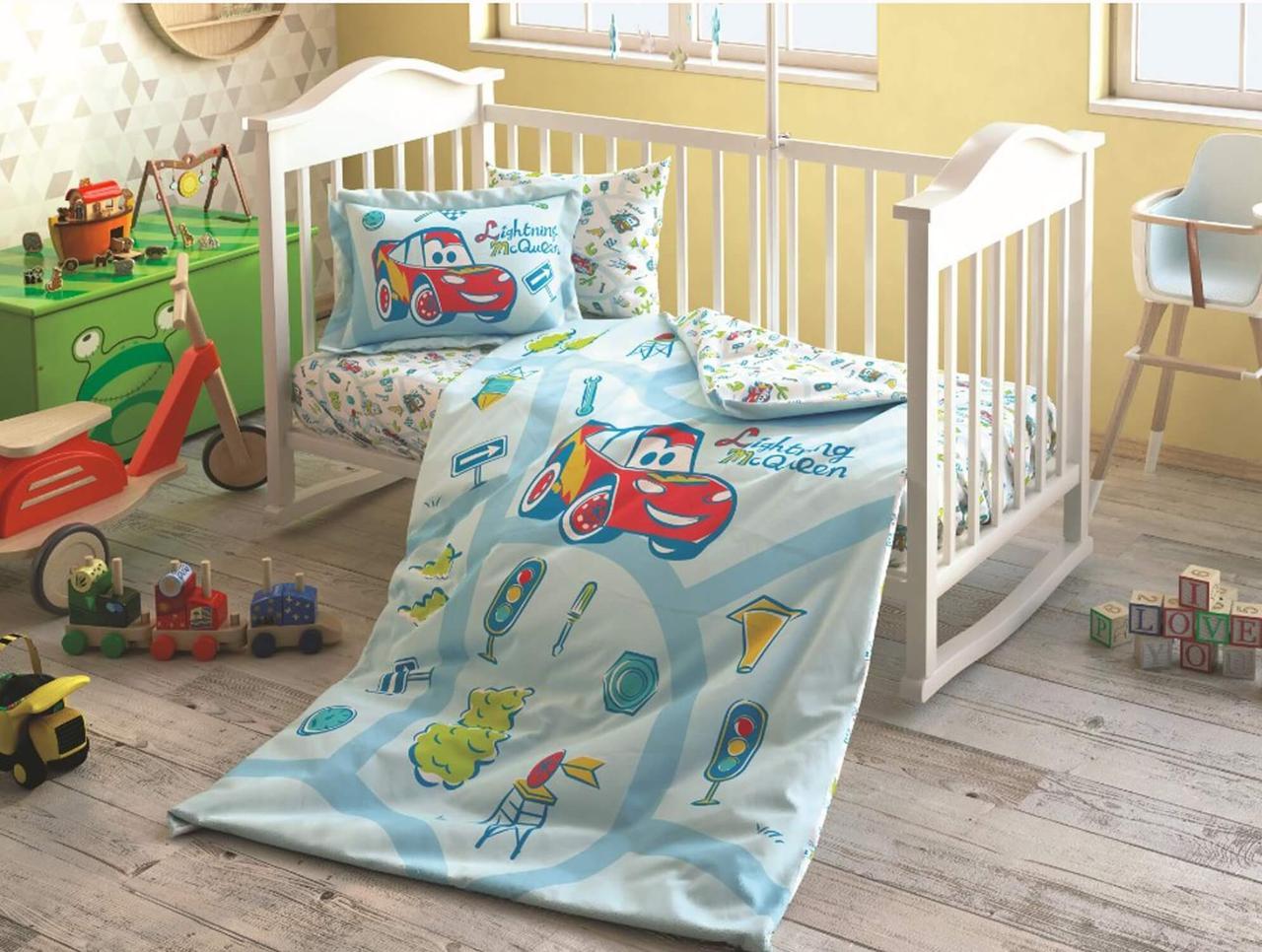 Детское постельное белье в кроватку TAC Cars для новорожденных