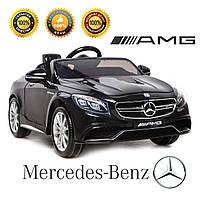 Детский электромобиль Mercedes Benz SL63 AMG с пятиточечным ремнем безопасности пультом родительско  контроля.