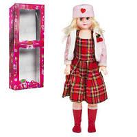 Кукла музыкальная, 75 см (платье в клеточку)