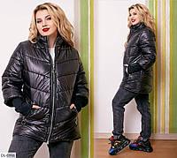 Осенняя стильная куртка р-ры 48-58 арт. 189