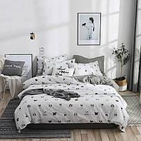 Полуторный комплект постельного белья Dog faces (хлопок), фото 1