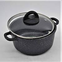 Набор посуды Benson BN-312 (6 предметов) мраморное покрытие / кастрюля