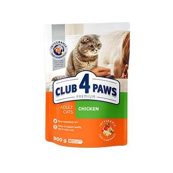 CLUB 4 PAWS PREMIUM 14 кг. Для взрослых кошек с КУРИЦЕЙ