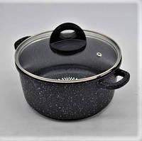 Набор посуды Benson BN-313 (7 предметов) мраморное покрытие / кастрюля / сковорода / кастрюли / сковородка