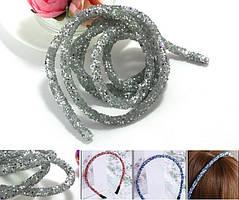 (1метр) Полый шнур покрытый блёстками. Цена за 1 метр Цвет - Серебро