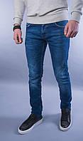 Чоловічі прямі сині джинси класика, фото 1