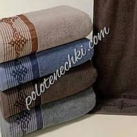 Махровое банное полотенце Узор с полосами, фото 1